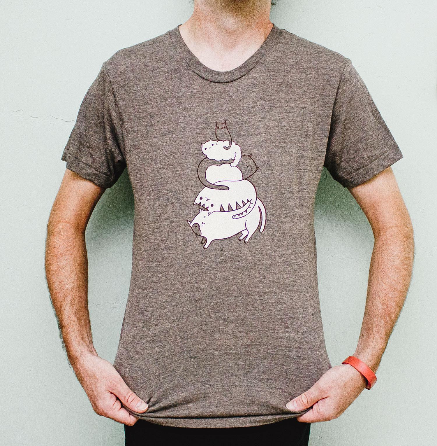 Cat t-shirt by boygirlparty