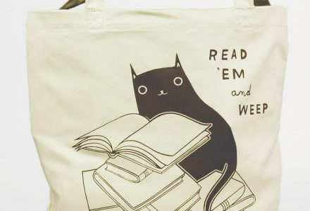 Read 'em and Weep tote by Susie Ghahremani / boygirlparty