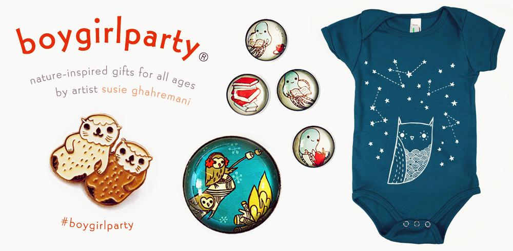 boygirlparty com susie ghahremani artist illustrator shop person