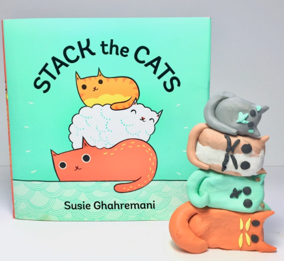 Photo from This Picture Book Life: http://thispicturebooklife.com/stack-the-cats-clay-cat-craft-with-math/