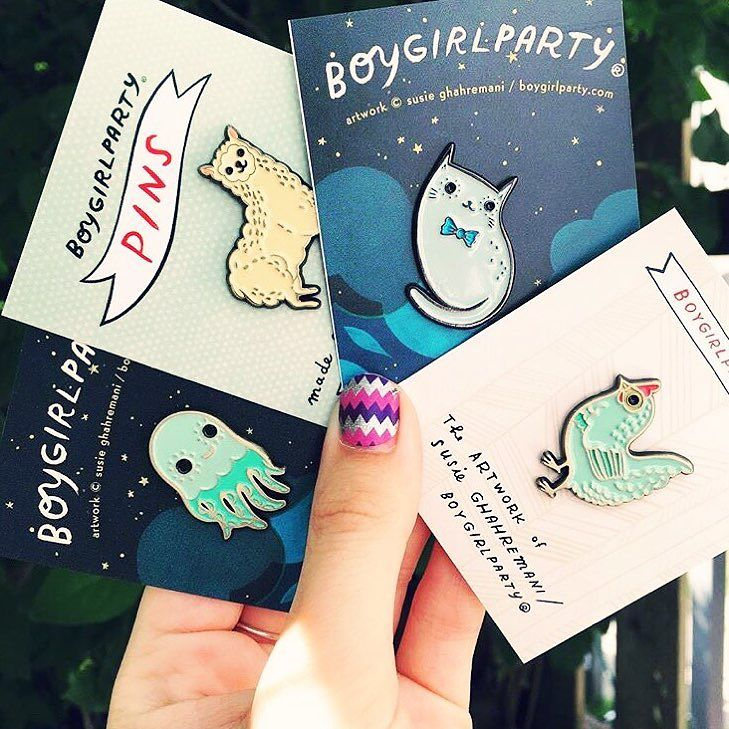 Boygirlparty Enamel Pins