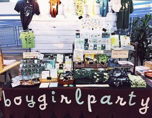 boygirlparty booth at craft show makers arcade