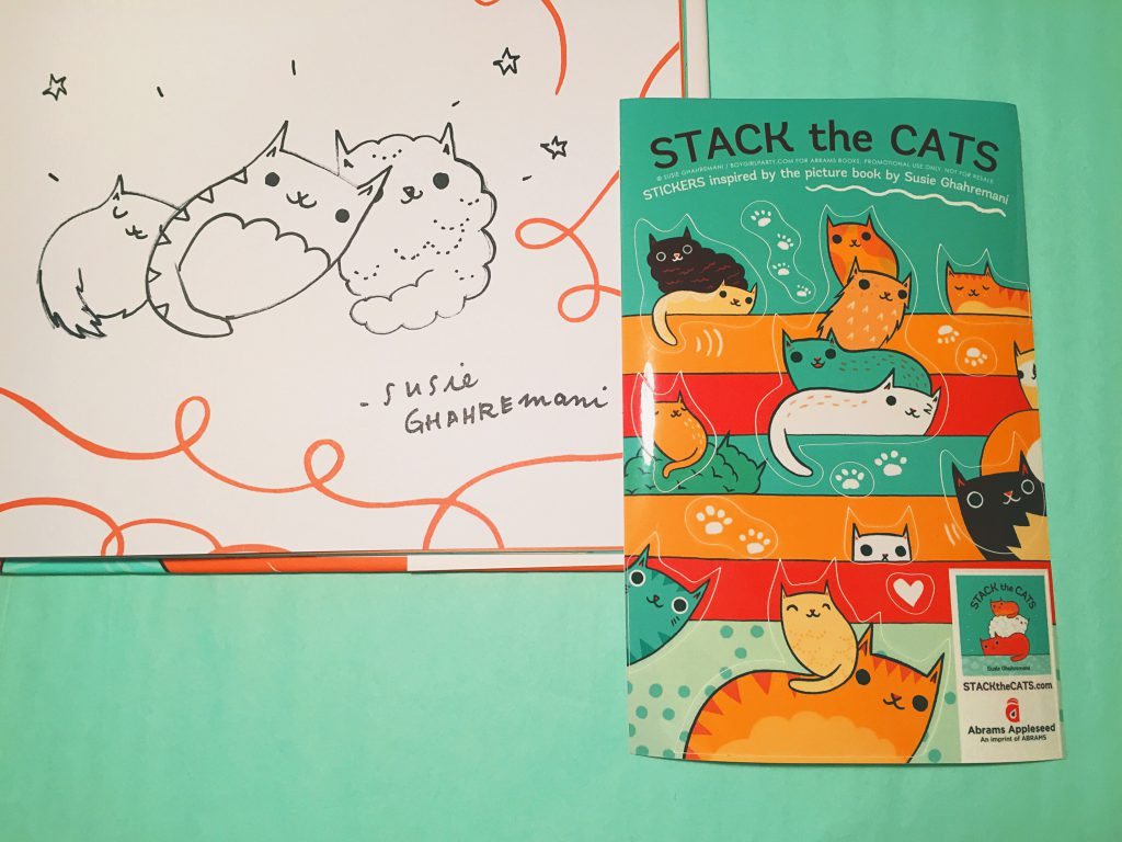 Signed copy of Stack the Cats by Susie Ghahremani