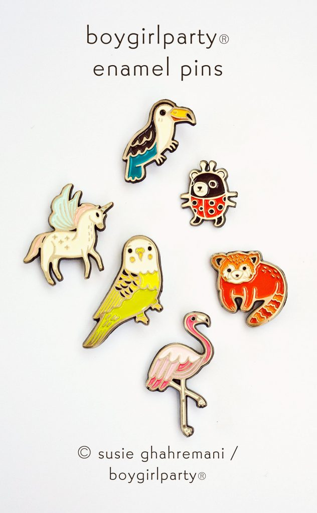 New Boygirlparty Enamel Pins! https://shop.boygirlparty.com/collections/enamel-pins?sort_by=created-descending
