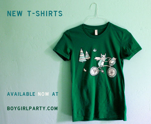 new t-shirts at the boygirlparty shop