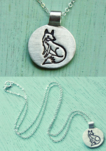 Fox Necklace by Boygirlparty Silver Fox Necklace