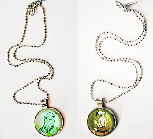 glass art drop necklaces by boygirlparty susie ghahremani