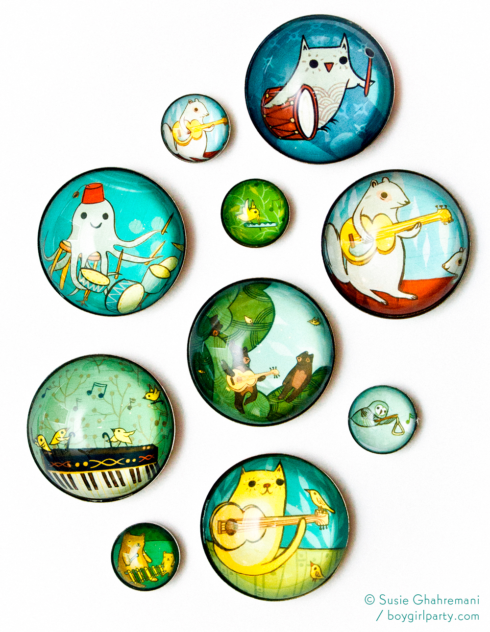 Musical Animals Magnets by Boygirlparty