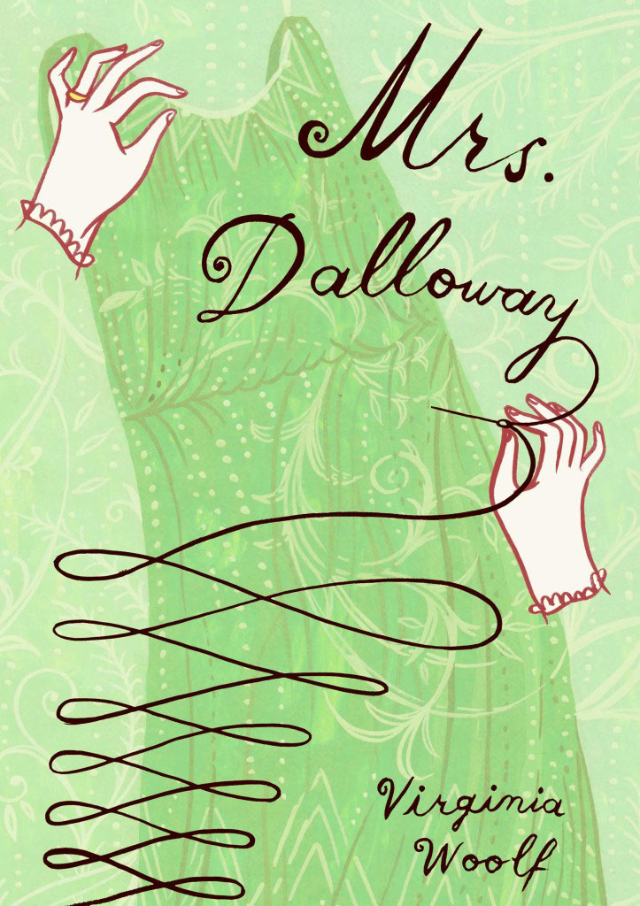 Mrs. Dalloway book cover illustration by Susie Ghahremani / boygirlparty.com