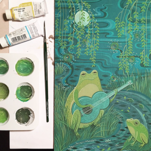 Frog Song by Susie Ghahremani work in progress