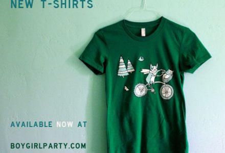 new t-shirts at the boygirlparty shop