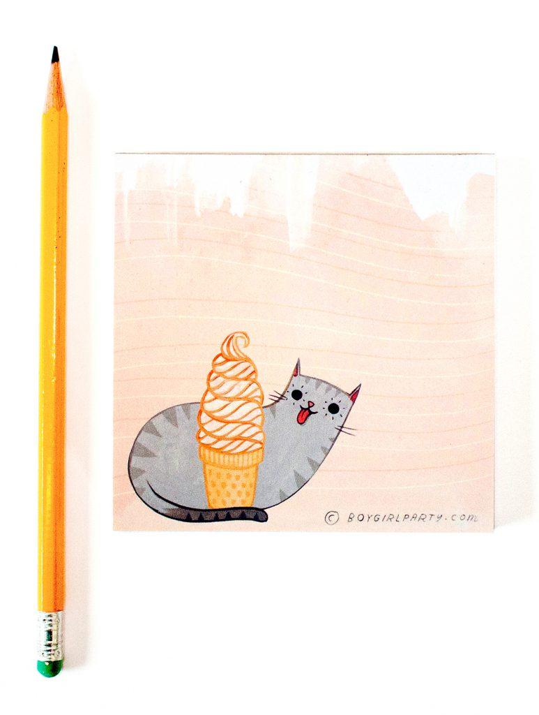 ice cream cat by susie ghahremani / boygirlparty.com