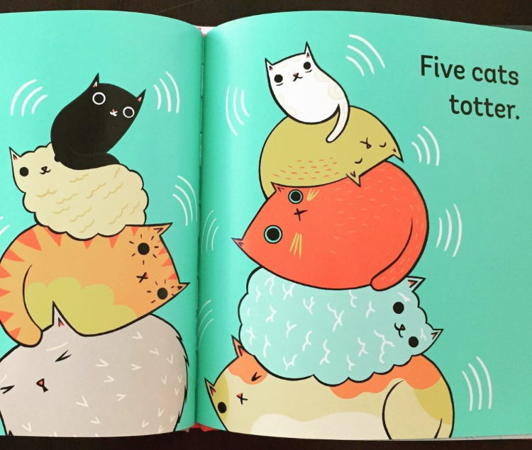Pre-order Stack the Cats and enter the cat sticker giveaway with Abrams Books