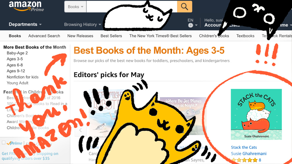 Best book of the Month: Stack the Cats by Susie Ghahremani