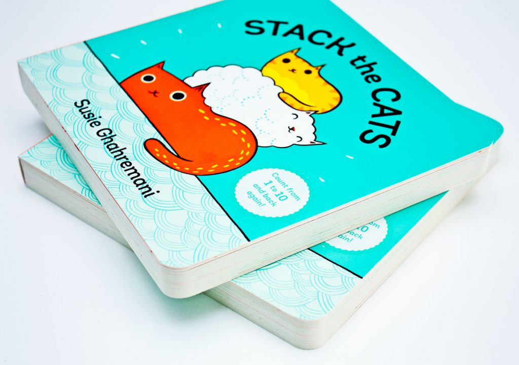 Stack the Cats Board Book by Susie Ghahremani