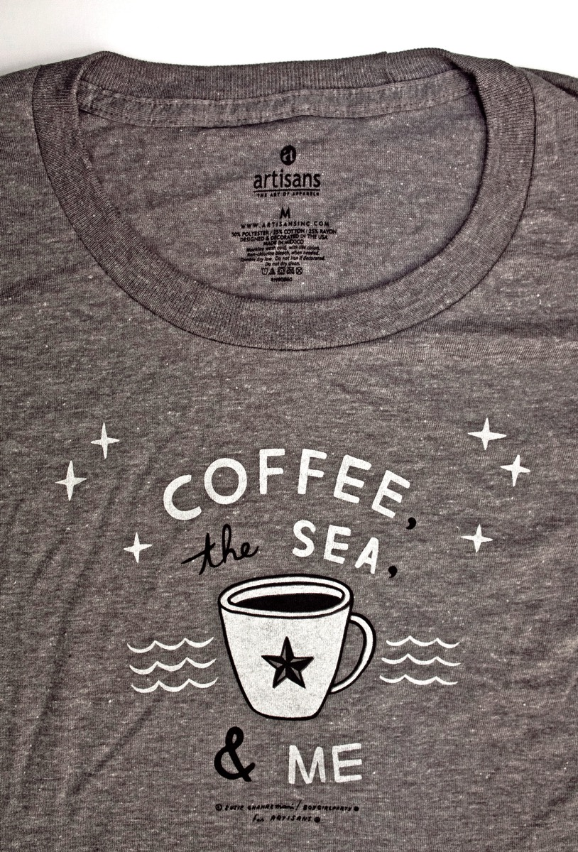 Coffee, the Sea & Me t-shirt by boygirlparty