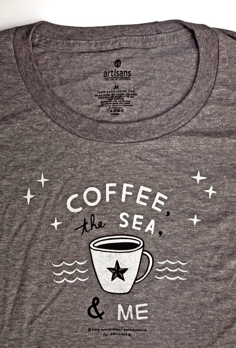 Coffee, the Sea & Me t-shirt by boygirlparty