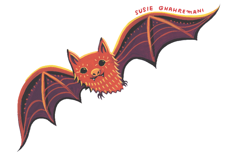 Susie Ghahremani will be drawing bats for the Mingei Museum Family Sundays at San Diego Design Week