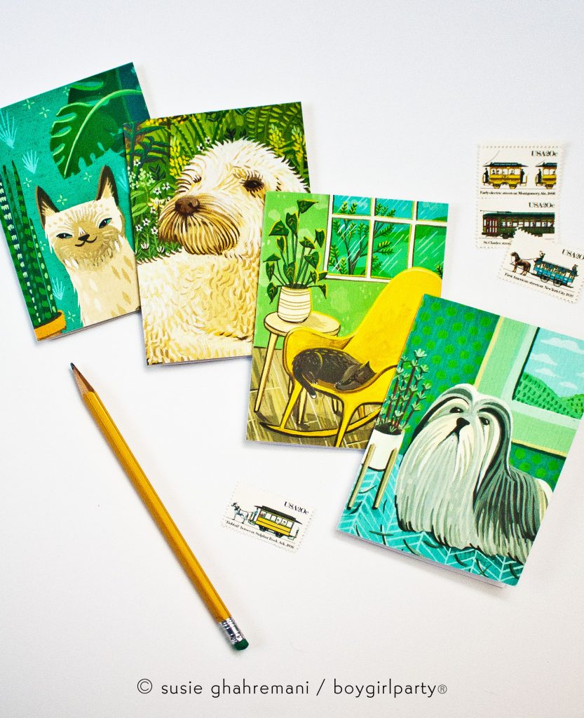 Cats and Dogs Notecard Set by boygirlparty