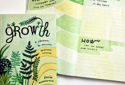 Growth is a Journal written and illustrated by Susie Ghahremani for mindfulness through change