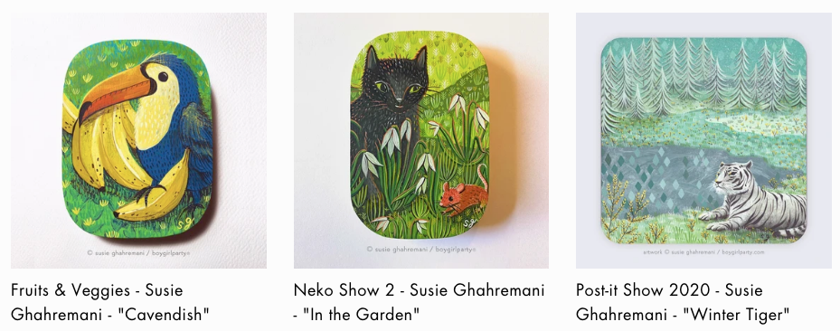 Susie Ghahremani paintings at Giant Robot
