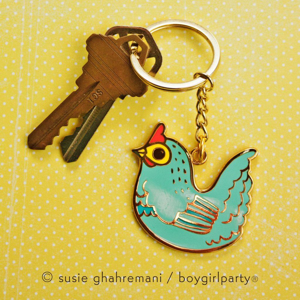 Boygirlparty Cottagecore chicken keychain