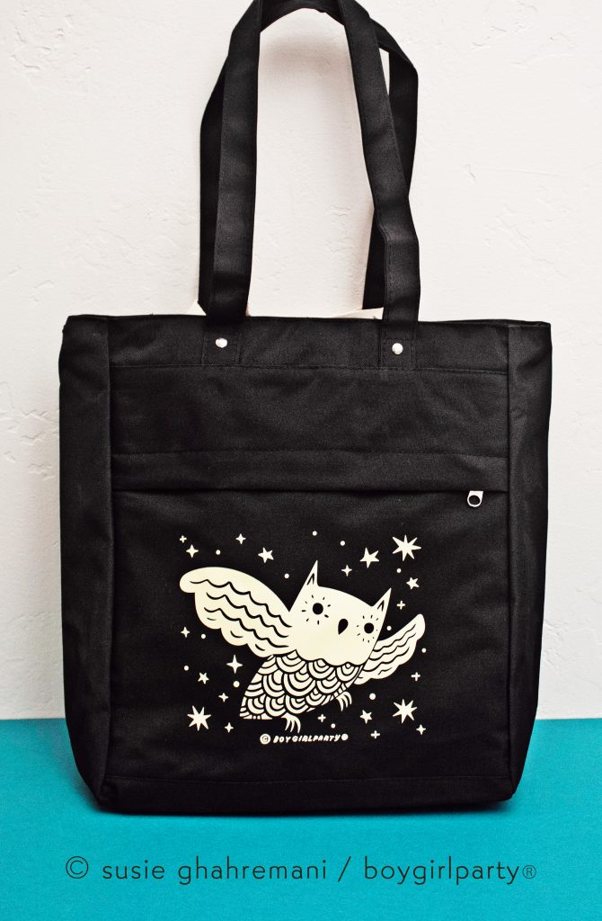 Boygirlparty Owl Satchel Bag and Tote Backpack